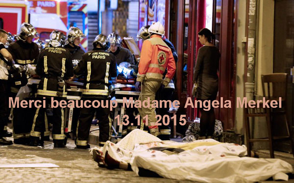 Merci beaucoup Madame Angela Merkel 13.11.2015